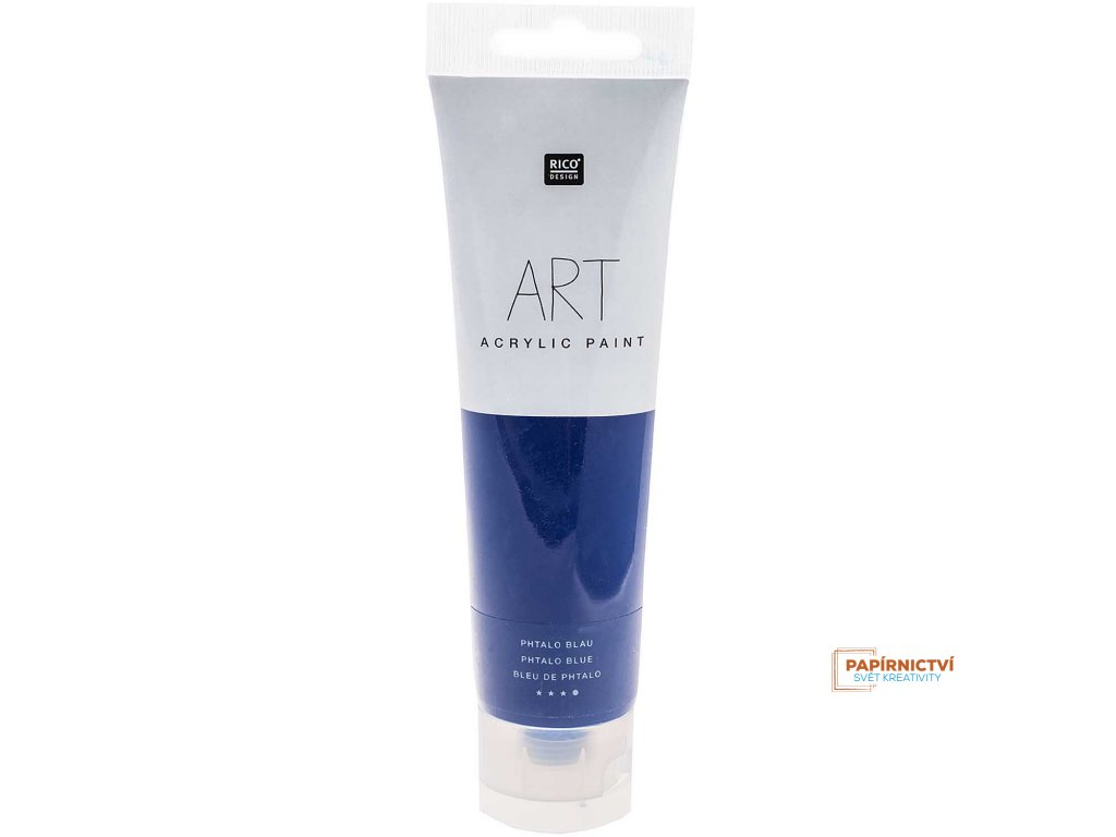 Akrylová barva 100ml phtalo modrá
