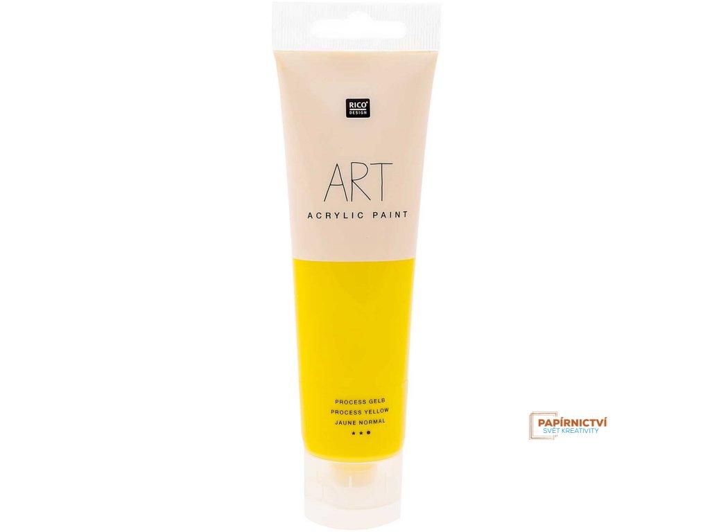 Akrylová barva 100ml procesní žlutá