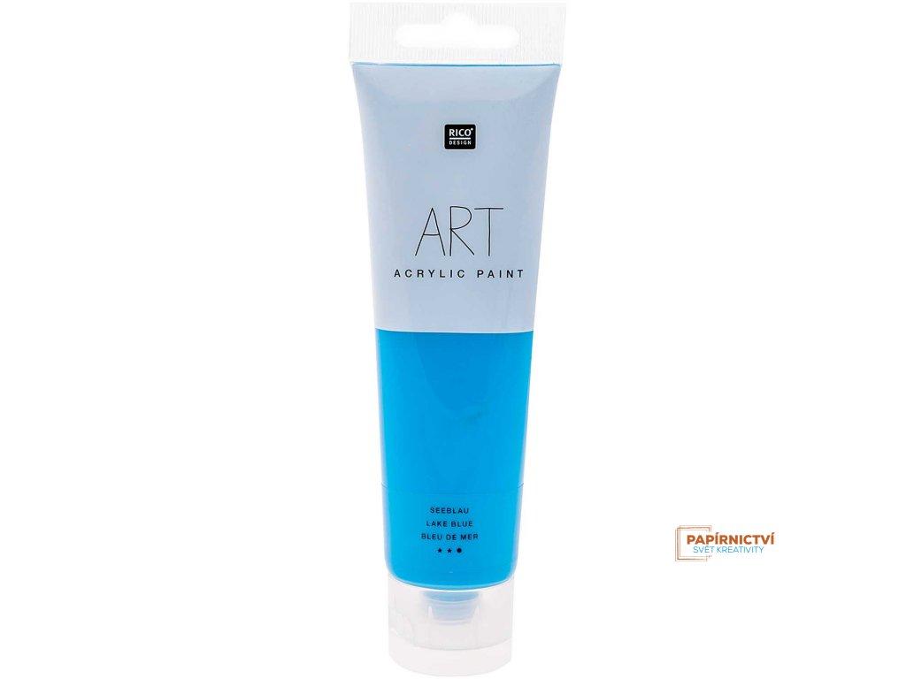 Akrylová barva 100ml jezerní modrá