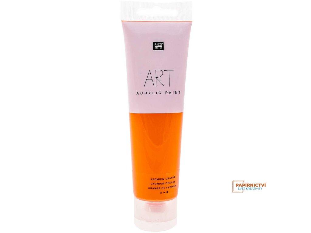 Akrylová barva 100ml kadmiově oranžová