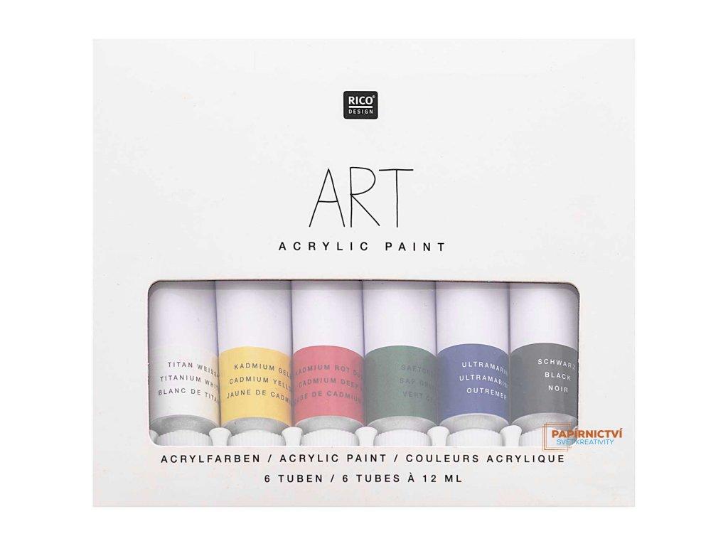 Sada akrylových barev 6 x 12 ml