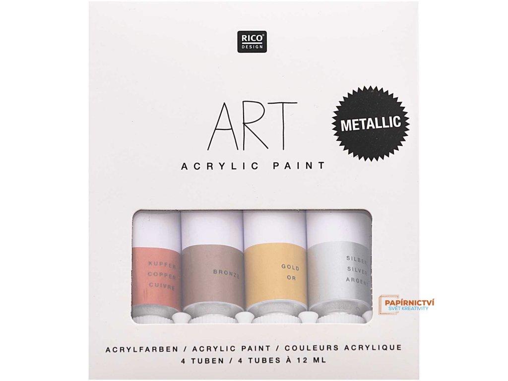 Sada akrylových barev 4 x 12 ml
