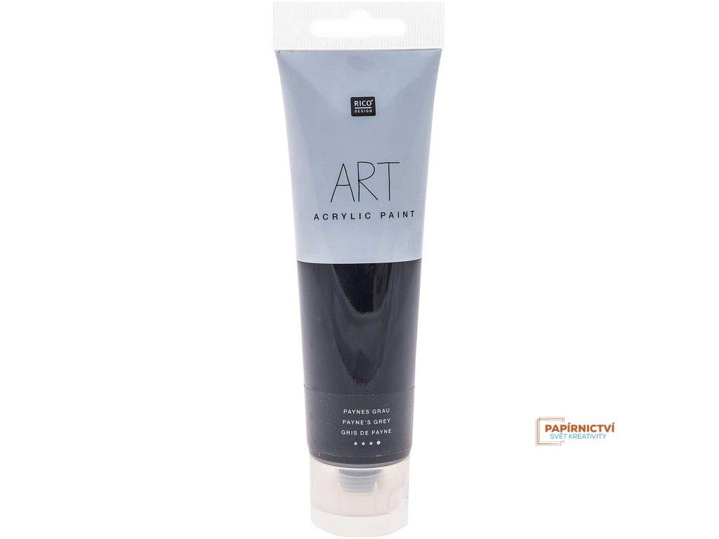Akrylová barva 100ml šedá