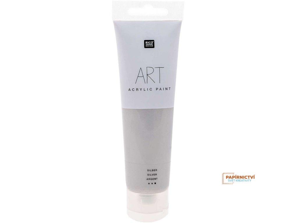 Akrylová barva 100ml stříbrná