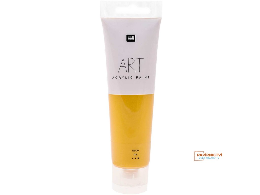Akrylová barva 100ml zlatá