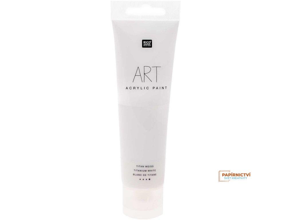 Akrylová barva 100ml titanová bílá