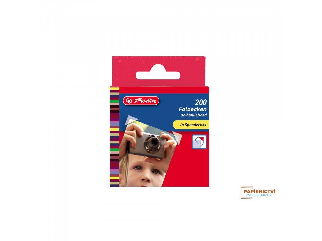 8767329 EBD Fotoecken selbstklebend transparent 200 Stueck, Spenderbox 12363 highres