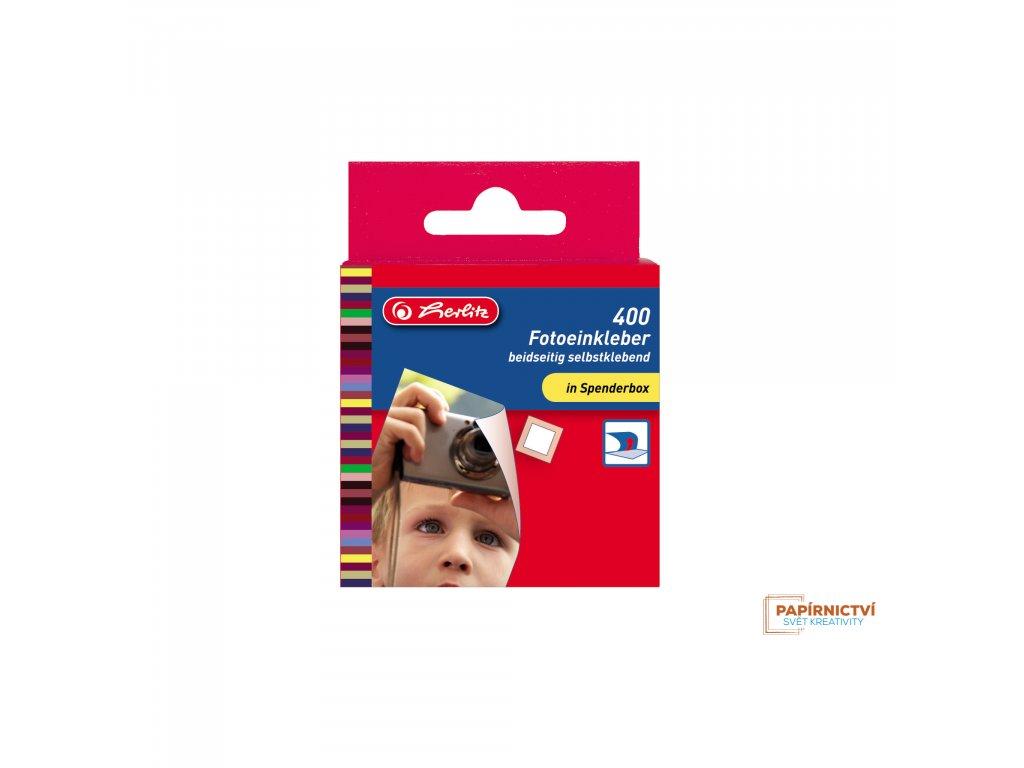8767378 EBD Fotoeinkleber selbstklebend weiss 400 Stueck, Spenderbox 12365 highres
