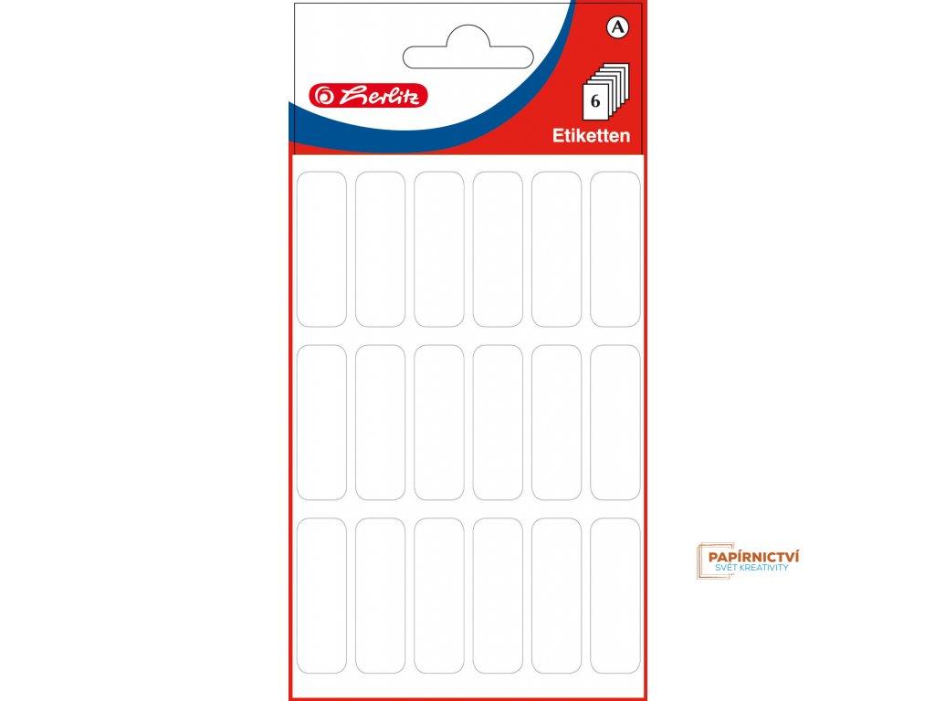 830448 EBD Bueroetiketten, weiss, 12 x 34 mm, cellophaniert mit Einlegekarte 9275 highres