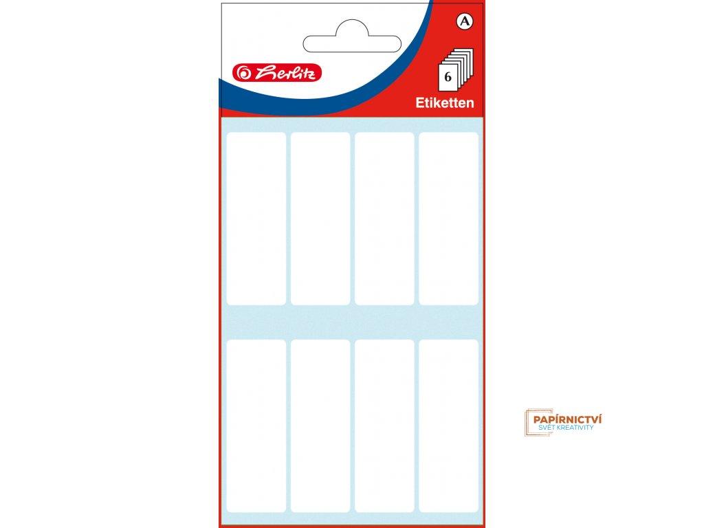 11296563 EBD Bueroetiketten, weiss, 19 x 50 mm, cellophaniert mit Einlegekarte 27825 highres