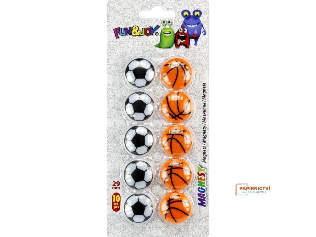 Magnety, míče, sport, šíře 29 mm, 10 ks