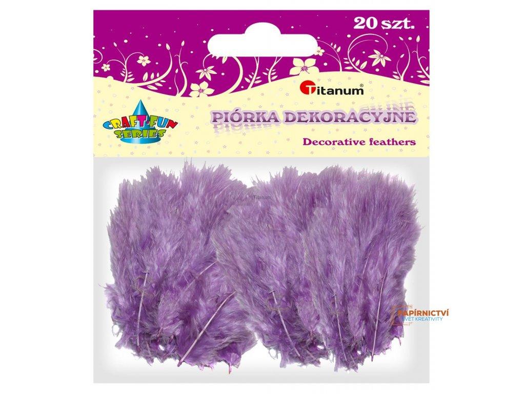 Peříčka, balení, 20ks, barva fialová