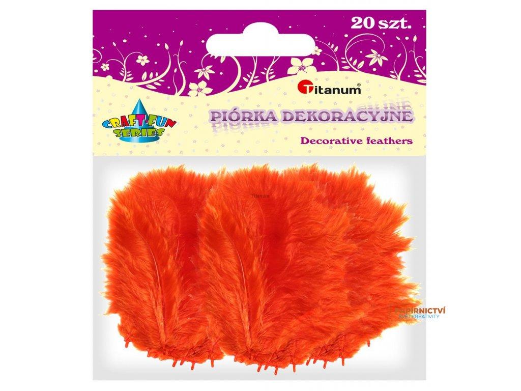 Peříčka, balení, 20ks, barva oranžová