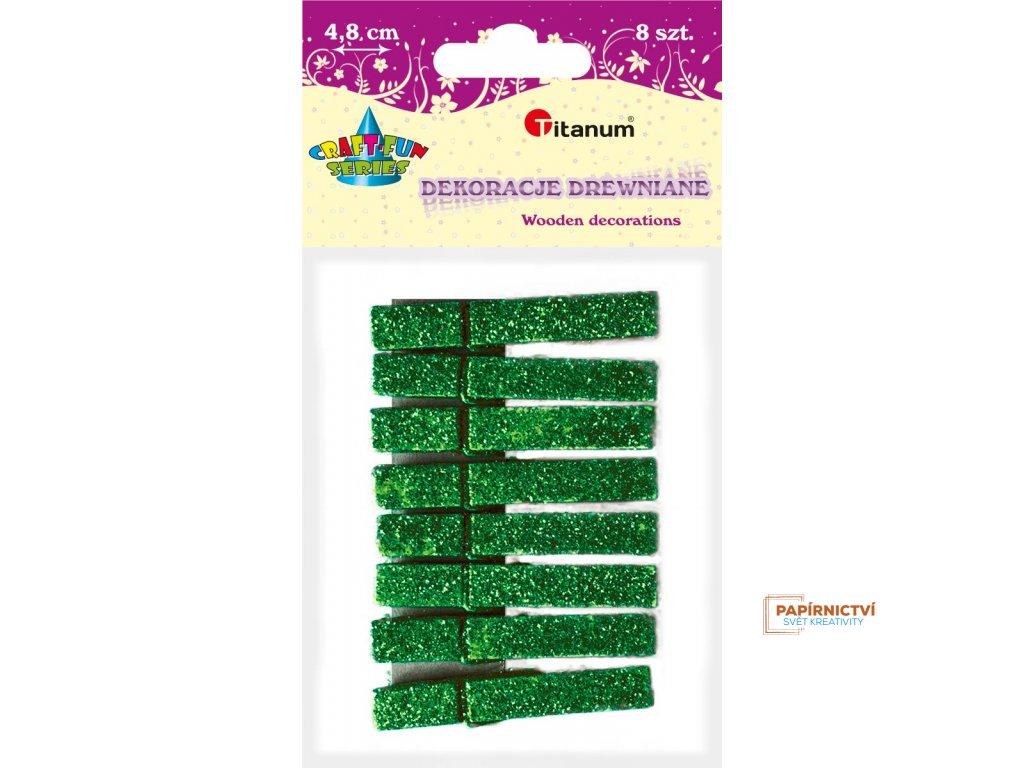 Kolíčky,48mm,8ks, zelené