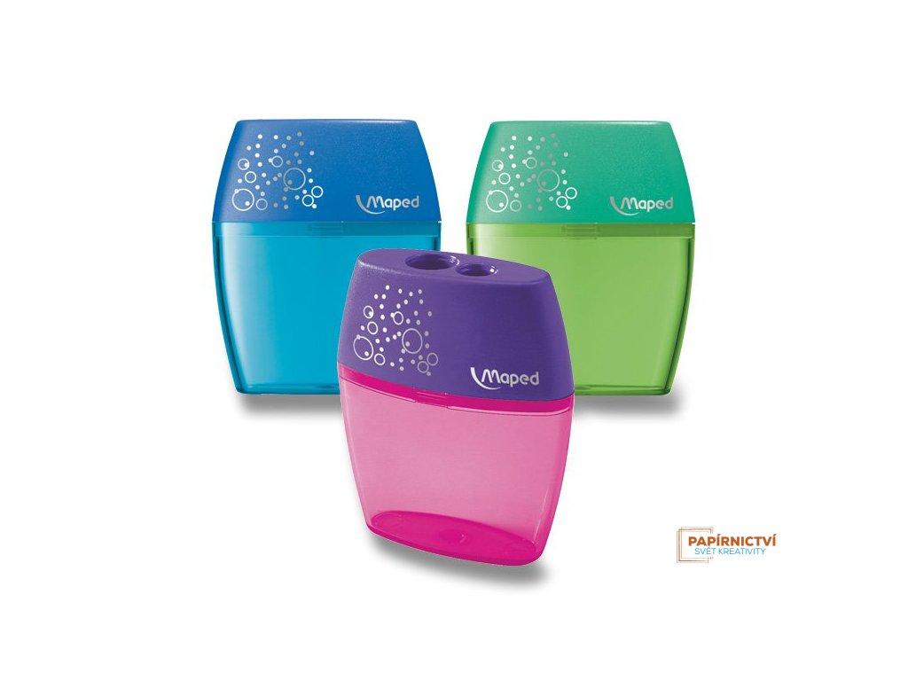 Ořezávátko MAPED Shaker dvojité, mix barev