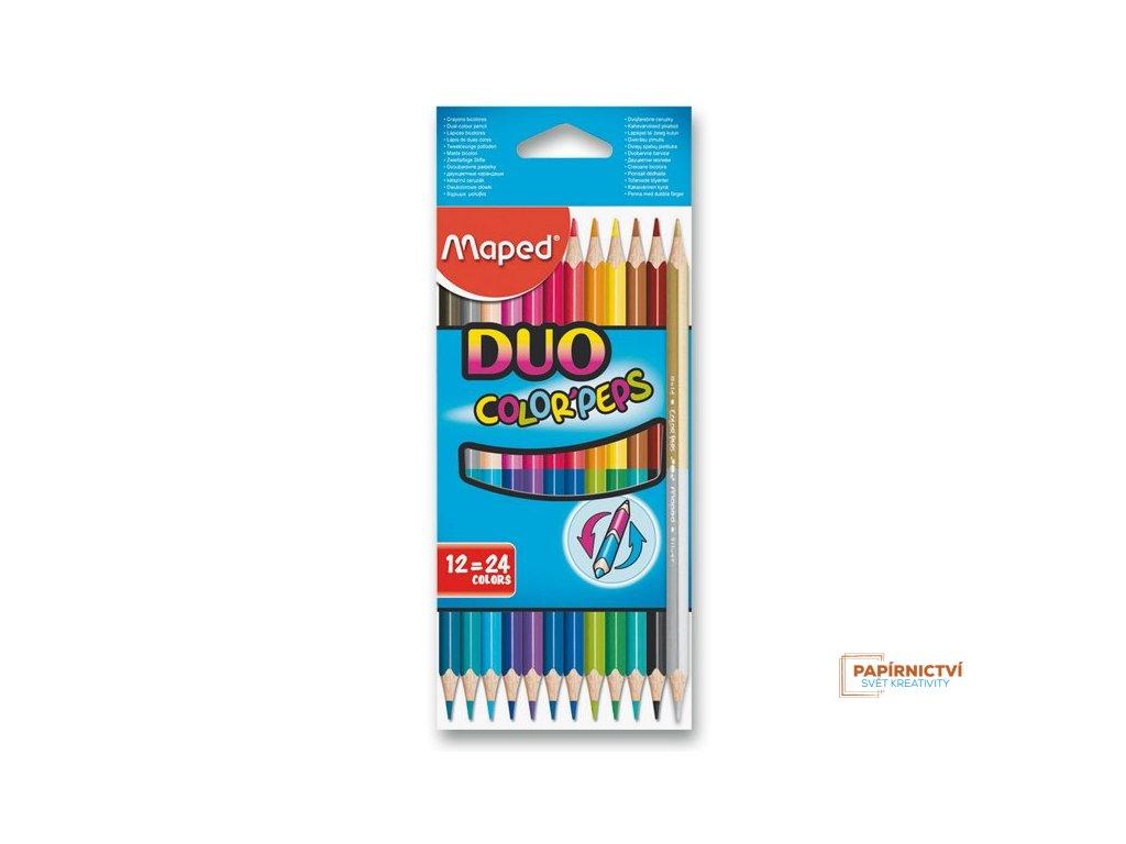 Pastelky ColorPeps MAPED Duo trojboké 24 barev