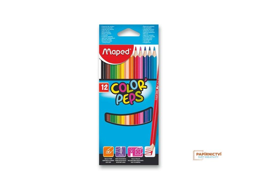 Pastelky ColorPeps MAPED trojboké 12 ks