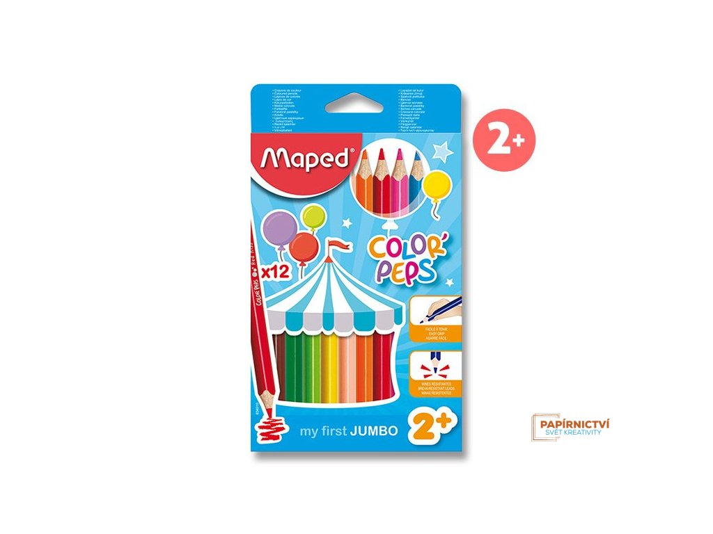 Pastelky ColorPeps MAPED Jumbo trojboké 12 ks