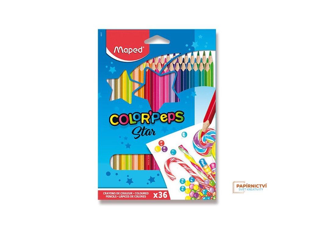 Pastelky ColorPeps MAPED trojboké 36 ks