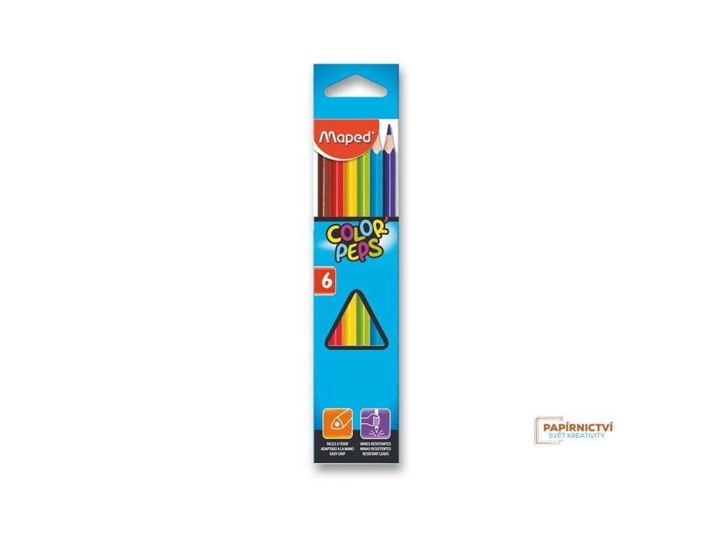 Pastelky ColorPeps MAPED trojboké 6ks