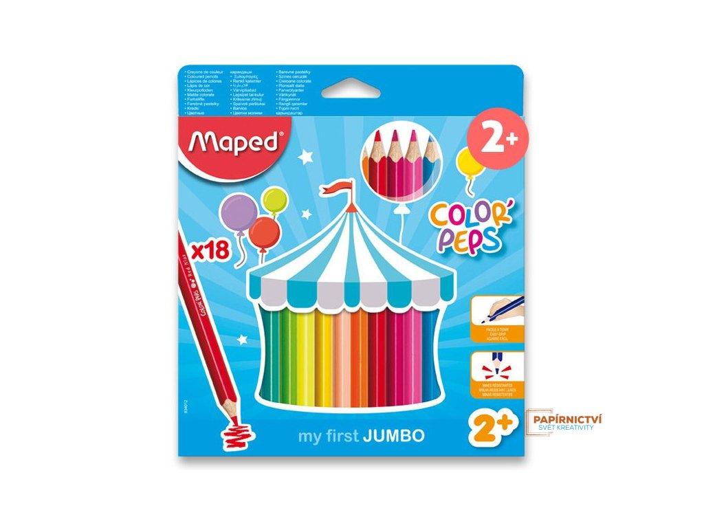 Pastelky ColorPeps MAPED Jumbo trojboké 18ks