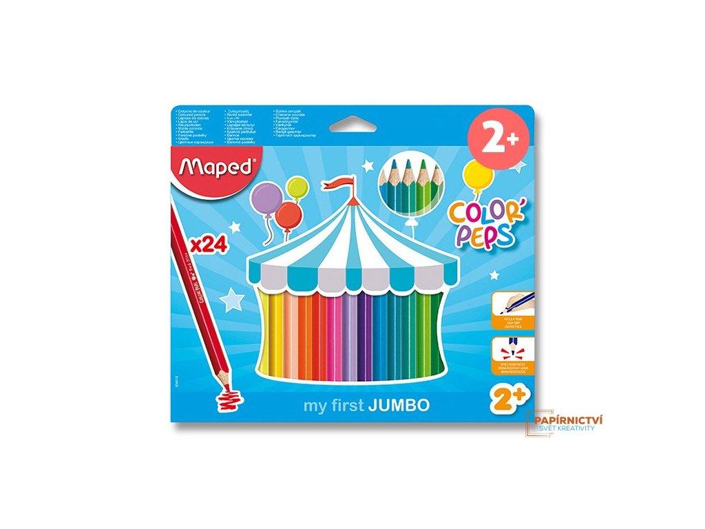 Pastelky ColorPeps MAPED Jumbo trojboké 24ks