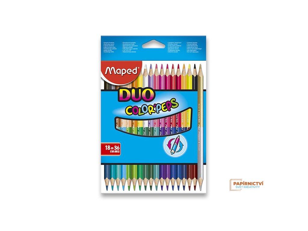 Pastelky ColorPeps MAPED Duo trojboké 36 barev