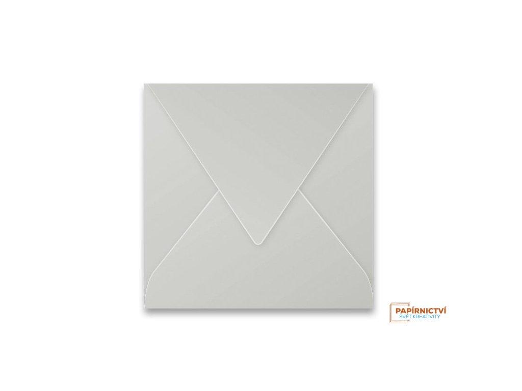 Obálka CLAIREFONTAINE - 165 x 165 mm, stříbrná