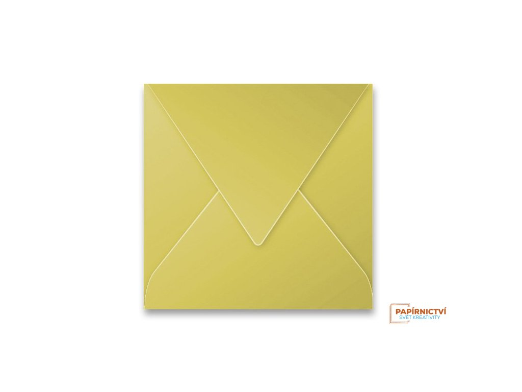 Obálka CLAIREFONTAINE  - 165 x 165 mm, zlatá
