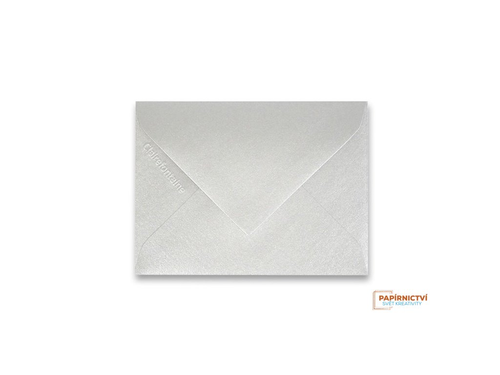 Obálka CLAIREFONTAINE - 75 x 100 mm, stříbrná