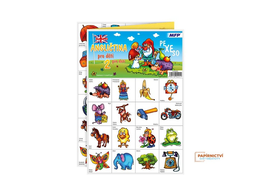 Pexeso MFP 3xA4 Angličtina pro děti 2