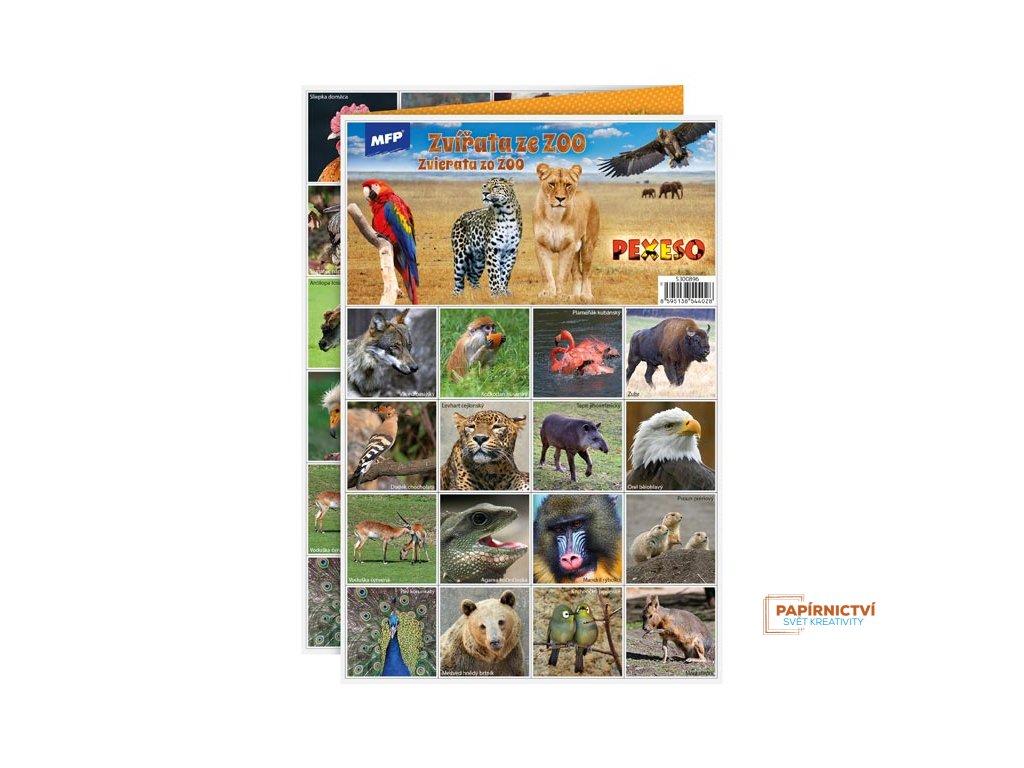 Pexeso MFP 3xA4 Zvířátka v ZOO
