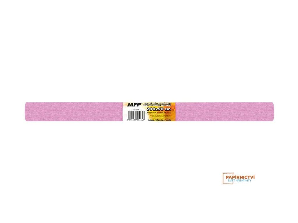 Krepový papír role 50x200cm růžový světlý