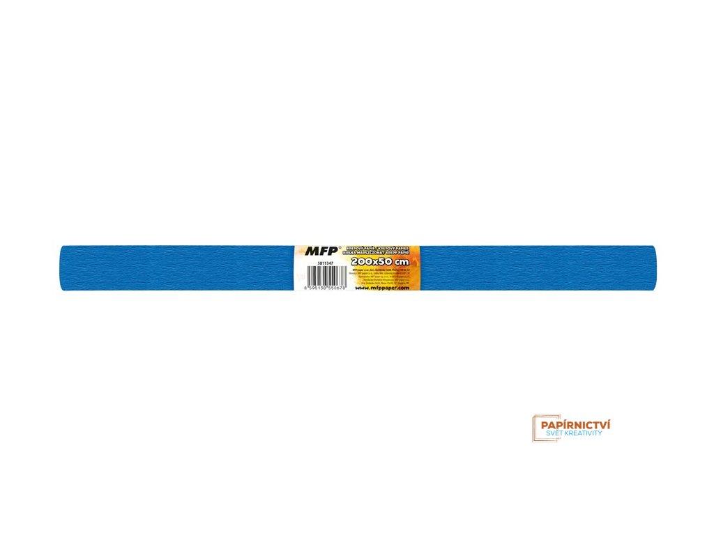 Krepový papír role 50x200cm modrý