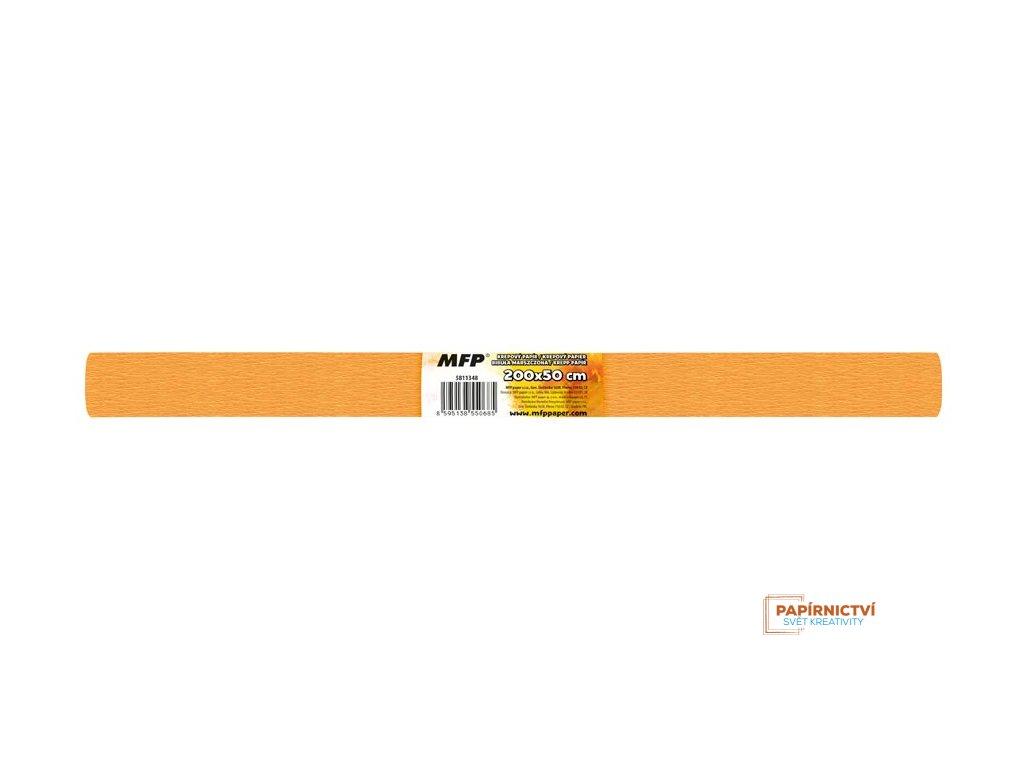 Krepový papír role 50x200cm oranžová světlá