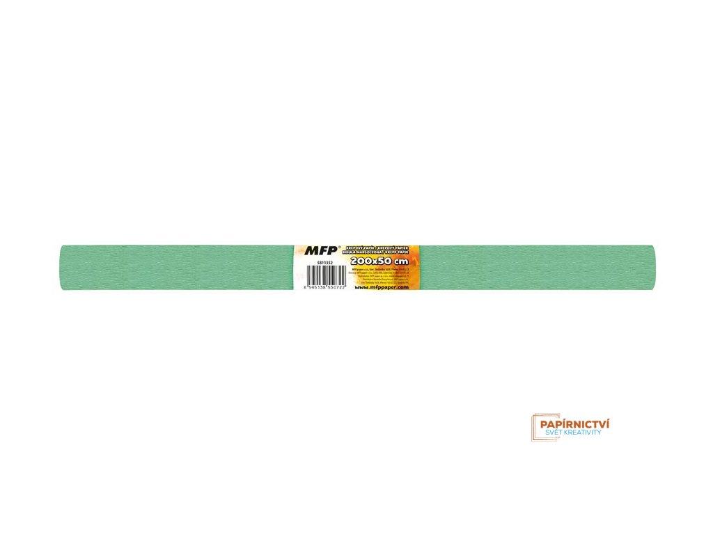 Krepový papír role 50x200cm zelený světlý