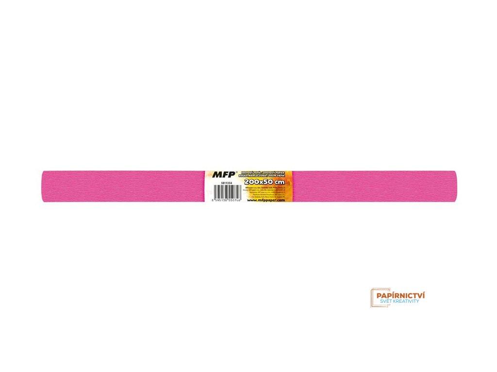 Krepový papír role 50x200cm růžový tmavý