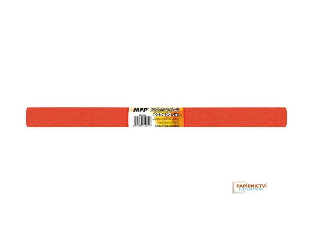 Krepový papír role 50x200cm cihlový