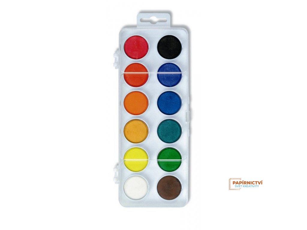 Barvy vodové 30 bílý 12ks