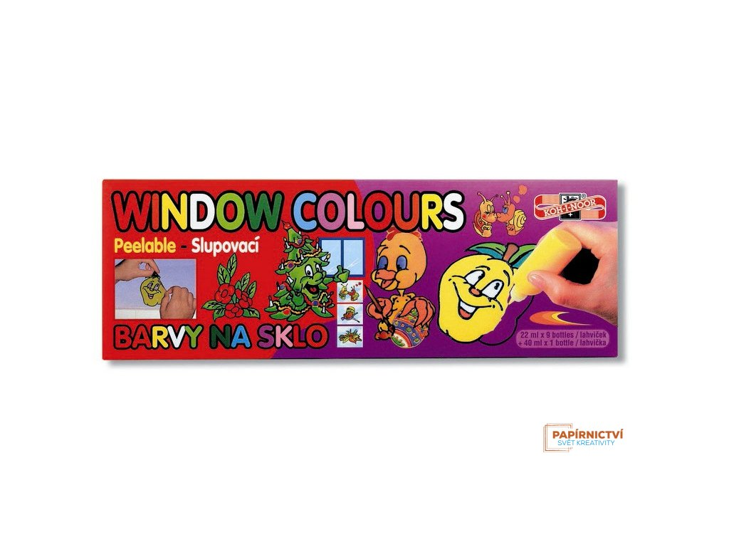 Barvy na sklo 9x22ml+40ml spr