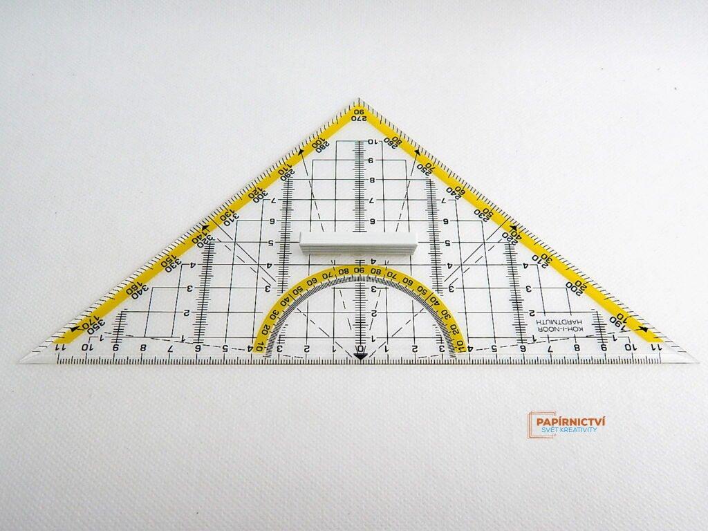 Trojúhelník 703044 45/177 čirý s držadlem
