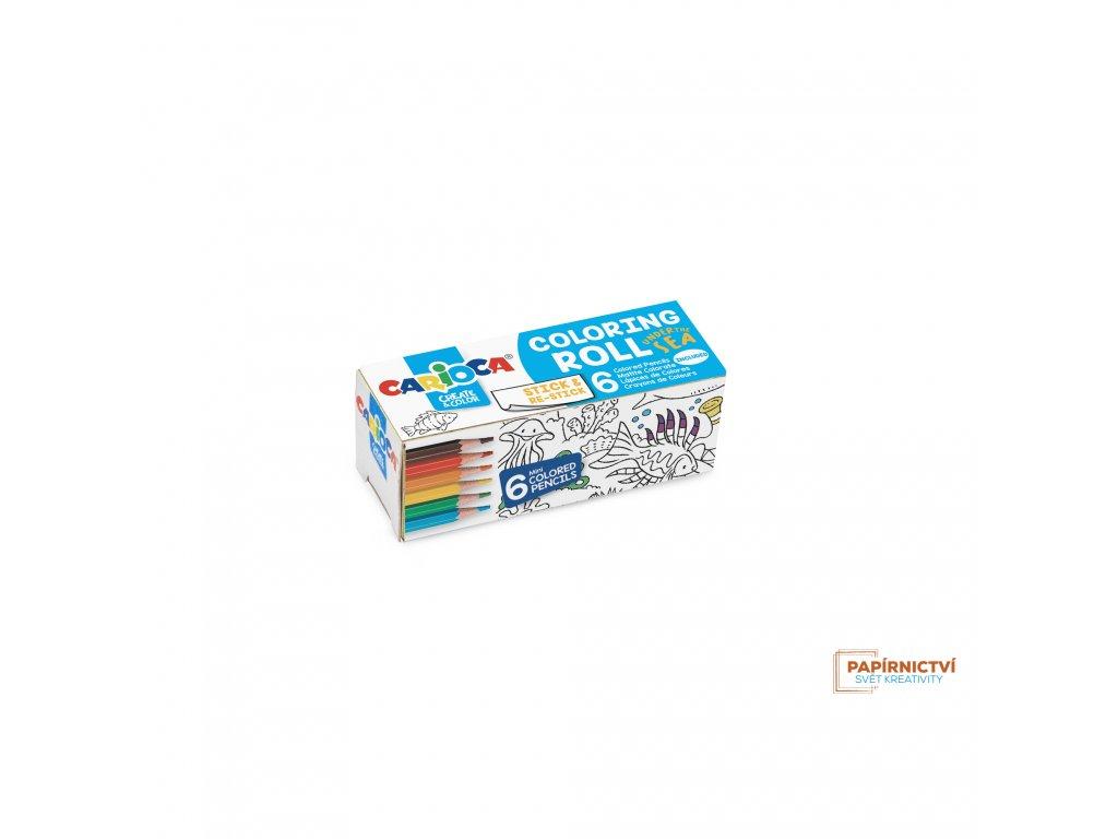 Omalovánky CARIOCA roll 10x85cm Moře + 6 pastelek