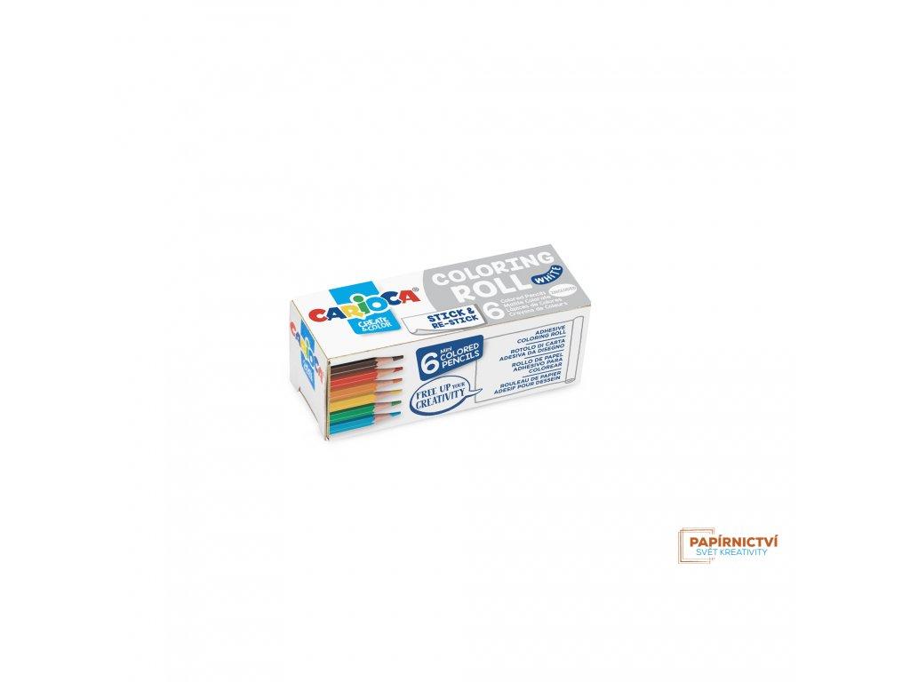 Omalovánky CARIOCA roll 10x85cm white + 6 pastelek