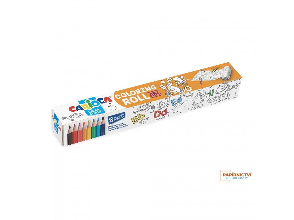 Omalovánky CARIOCA roll 200x30 ABC + 8 pastelek