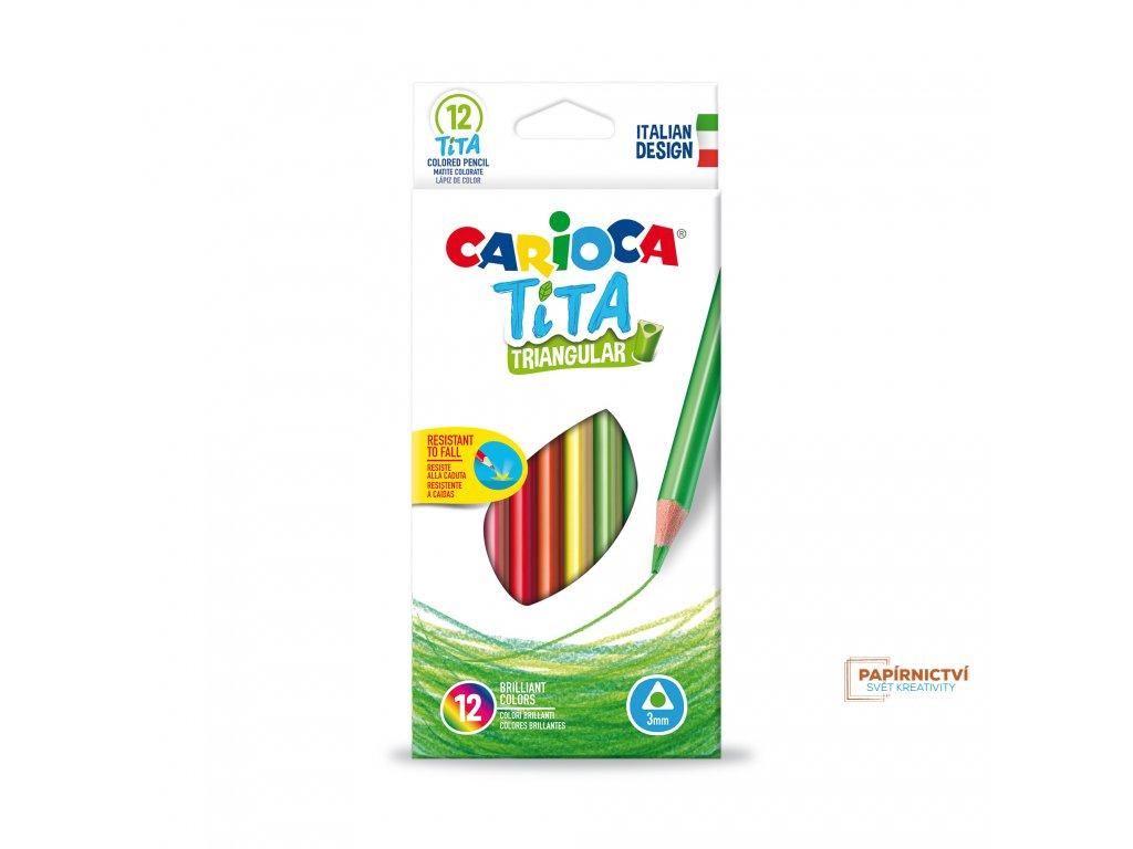 Pastelky CARIOCA trojhranné 12ks