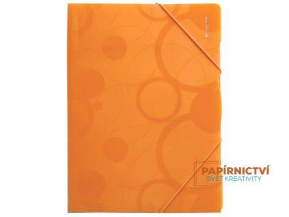Sloha PP s gumou A4 NEO COLORI oranžová