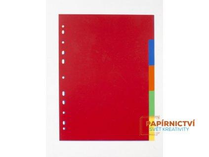 Rozdružovač A4 1x5 barev PP 120my