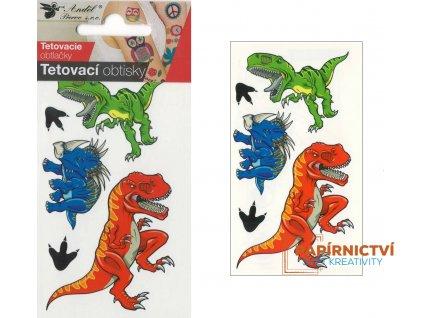 Tetovací obtisky 10,5x6 cm- velcí dinosauři