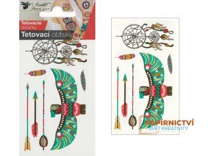 Tetovací obtisky 10,5x6 cm- lapač snů