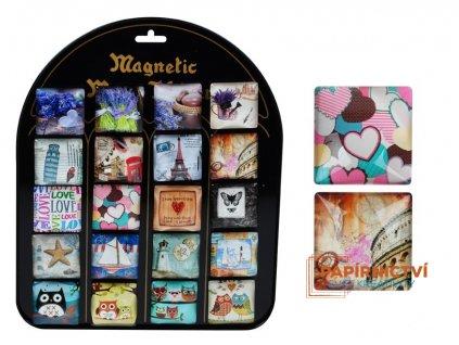 Magnet dekorační 4x4cm mix2